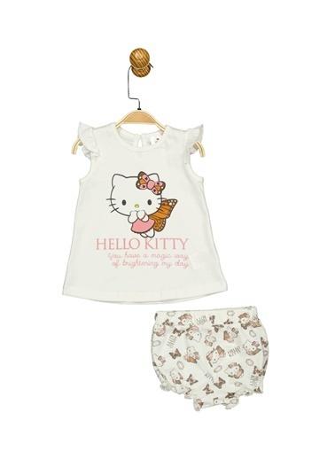Hello Kitty Lisanslı Bebek Takım 17483 Ekru